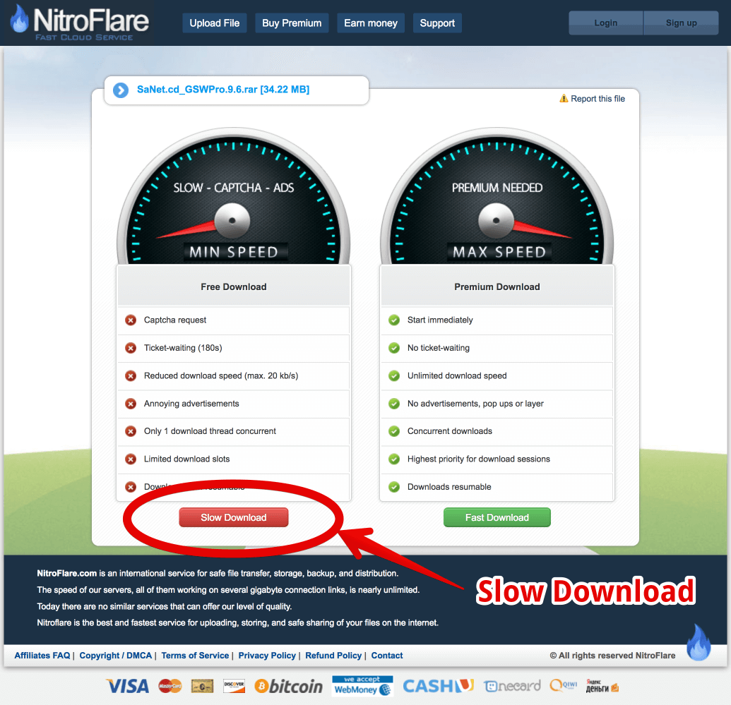 How To download file from nitroflare com? - FAQ - SoftArchive