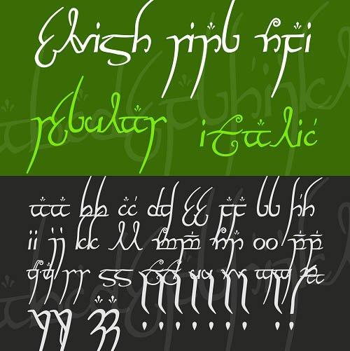 elvish font