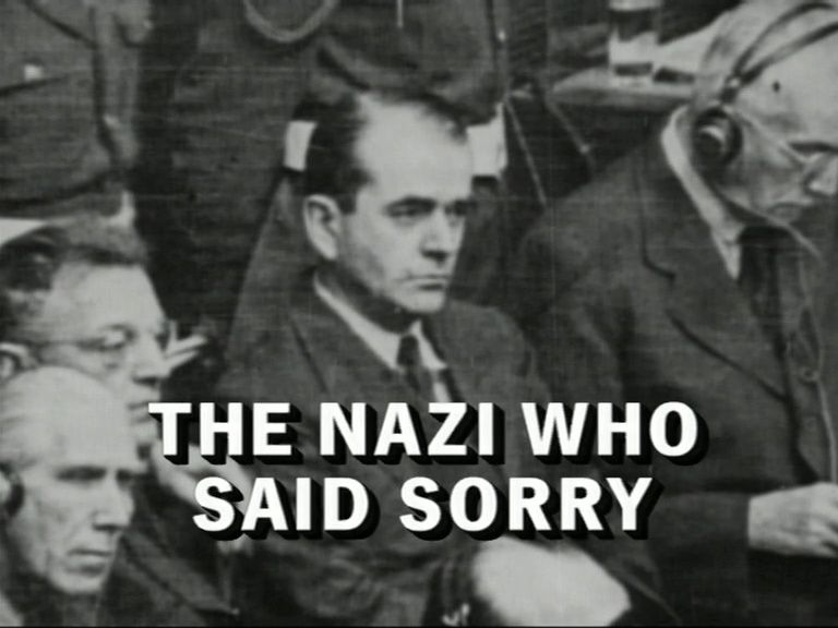 the nazi who said sorry Directed by martin davidson with andrew sachs, albert speer, alan bullock, dorothee casalis.