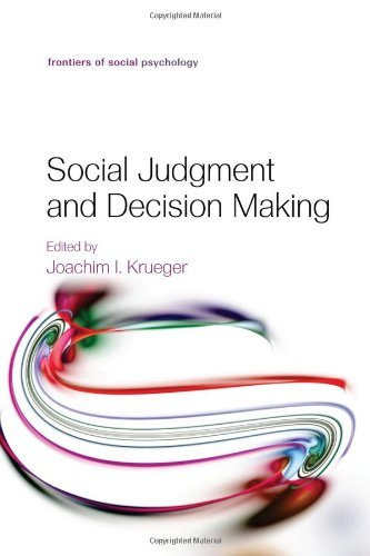 the psychology of judgment and decision making new york mcgraw hill