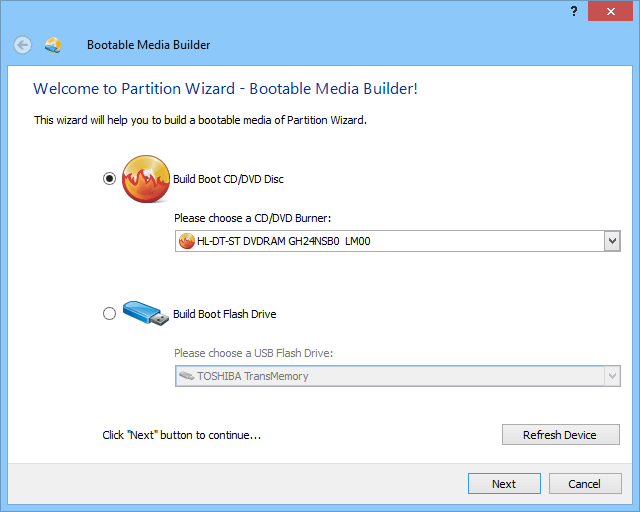 download minitool partition bootable