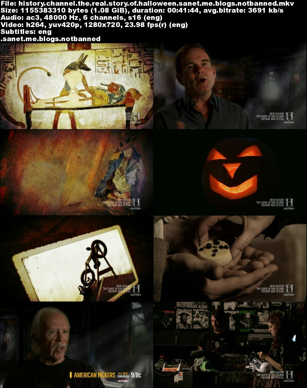 download history channel - the real story of halloween (2015) 720p