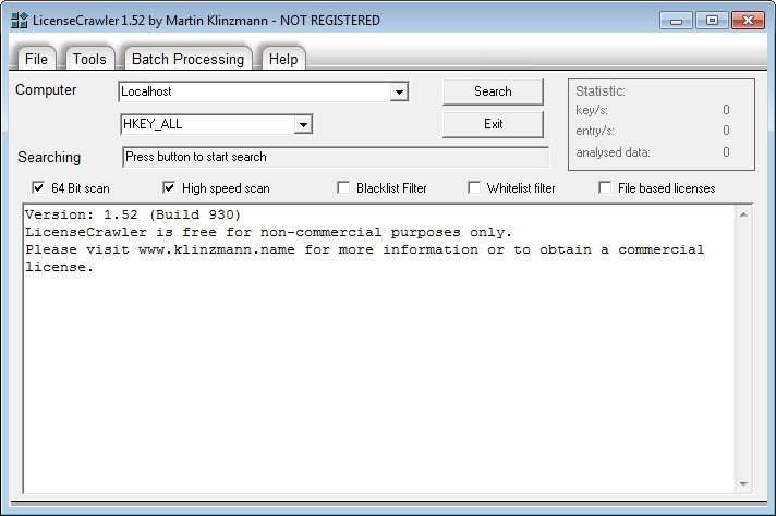 LicenseCrawler 1.97 build 1698 Portable