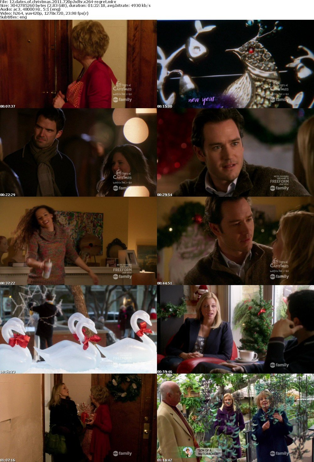 12 Dates Of Christmas.Download 12 Dates Of Christmas 2011 720p Hdtv X264 Regret