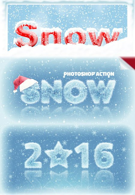 Ice and Snow Photoshop Styles | PSDDude