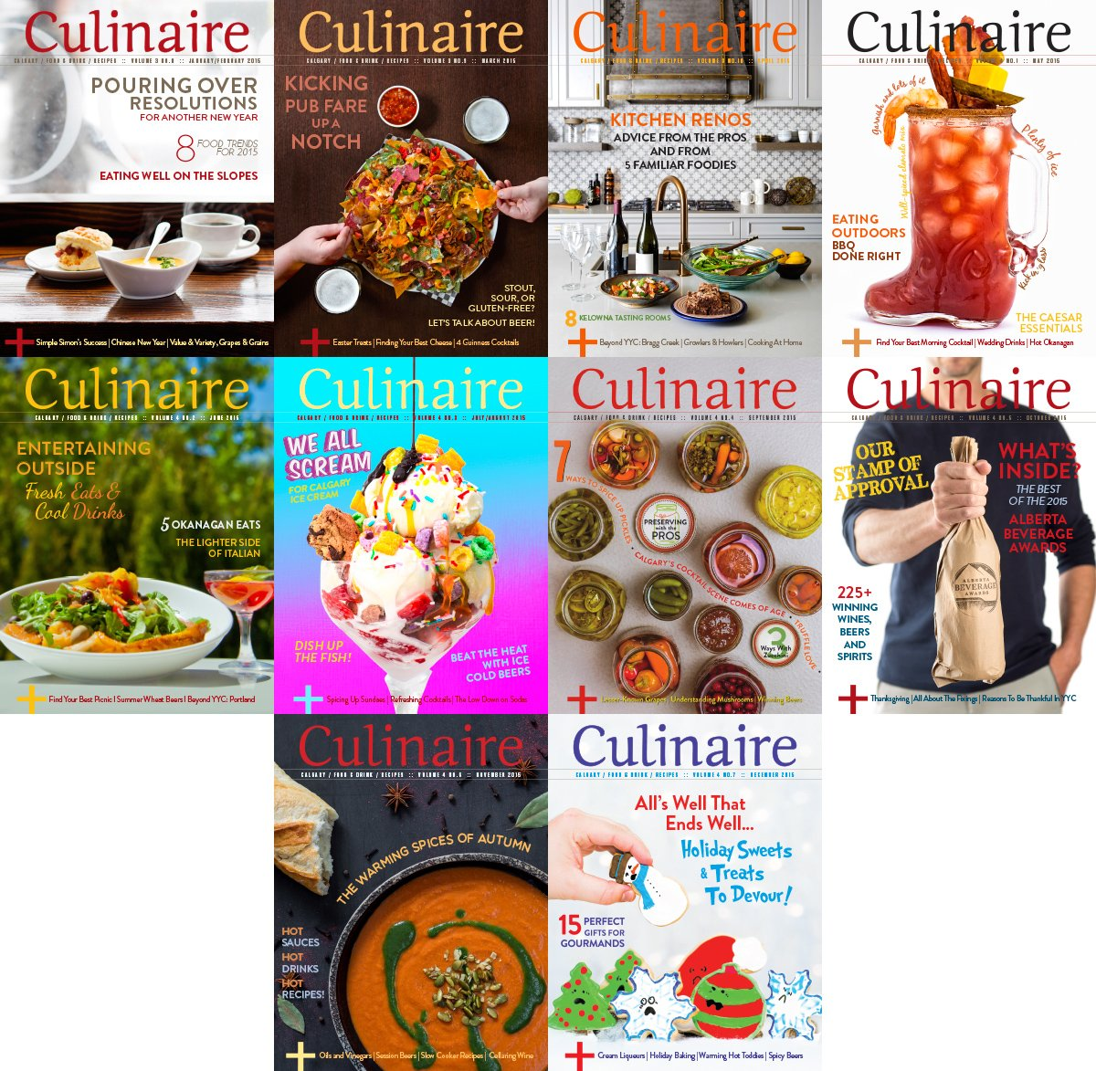 Download culinaire magazine 2015 full year collection for Culinaire