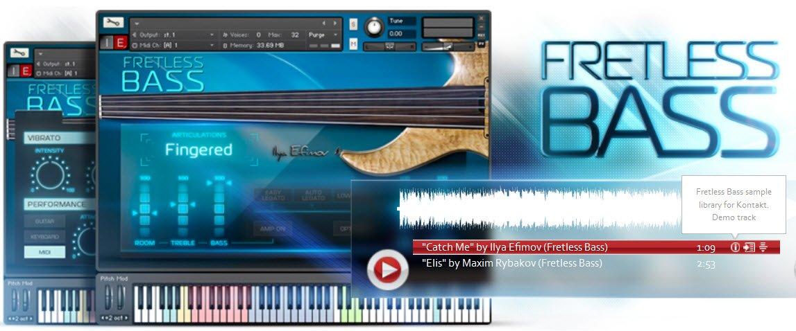 kontakt fretless bass