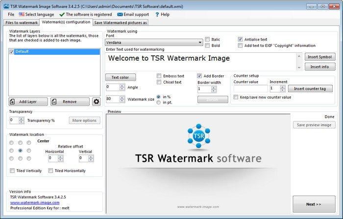 TSR Watermark Image Pro 3.5.7.8 Multilingual + Portable