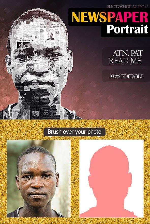 Download GraphicRiver - Newspaper Portrait Effect - SoftArchive