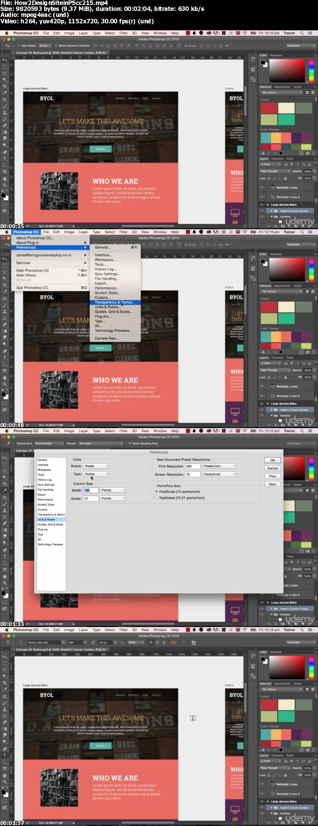 Download How to Design a Website in Photoshop (Using Photoshop CC