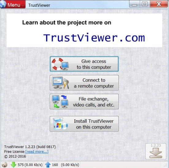 TrustViewer 1.4.8 Build 1316 Portable