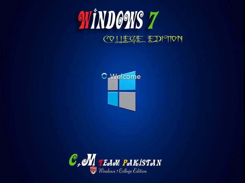 Download Windows 7 College Edition Lite (x64) Feb 2016