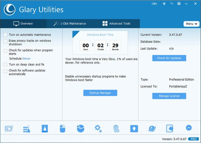 Glary Utilities Pro 5.71.0.92 full serial