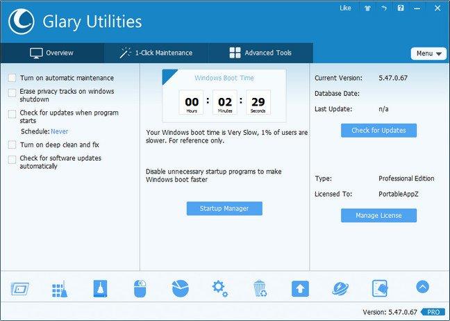 Glary Utilities Pro 5.84.0.105 Multilingual Portable