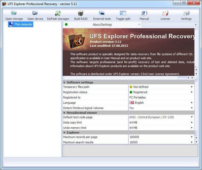 UFS Explorer Professional Recovery 5.23 Multilingual Portable