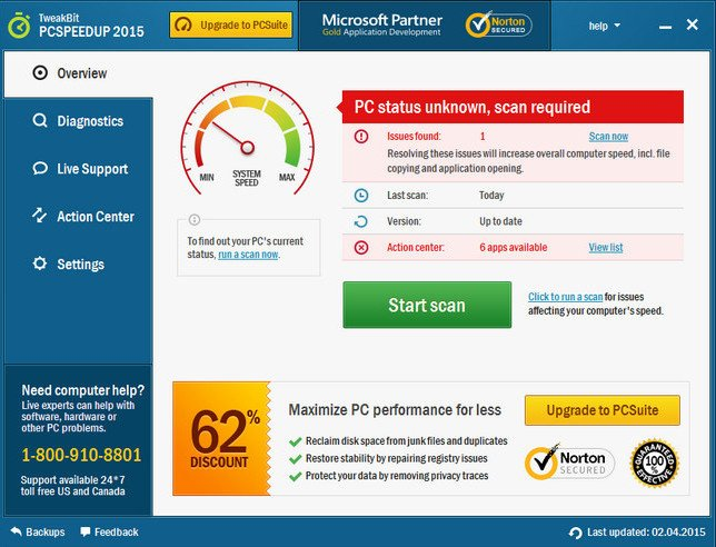 TweakBit PCSpeedUp 1.8.2.3 Multilingual