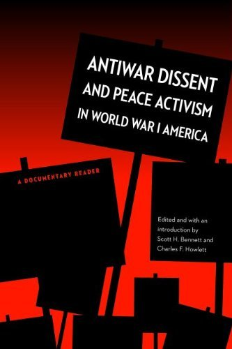 Download Antiwar Dissent and Peace Activism in World War I