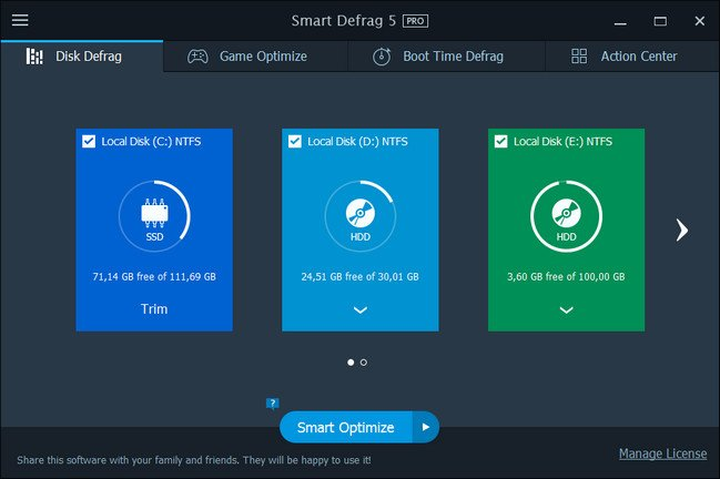 IObit Smart Defrag Pro 5.5.0.1024 Multilingual + Portable