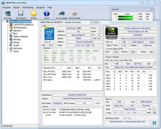 HWiNFO 5.43 Build 3065 Beta Portable
