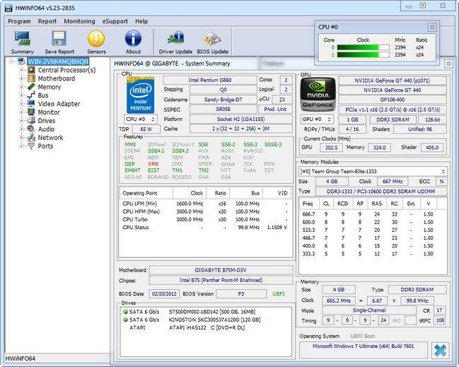 HWiNFO 5.57 Build 3250 Beta