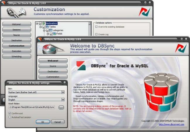 DMSoft DBSync for Oracle and MSSQL 1.4.0
