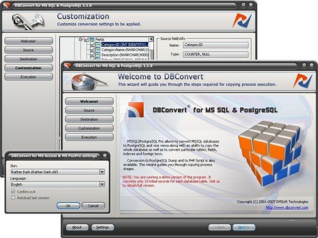 DBConvert for MSSQL and PostgreSQL 3.6.2 Multilingual