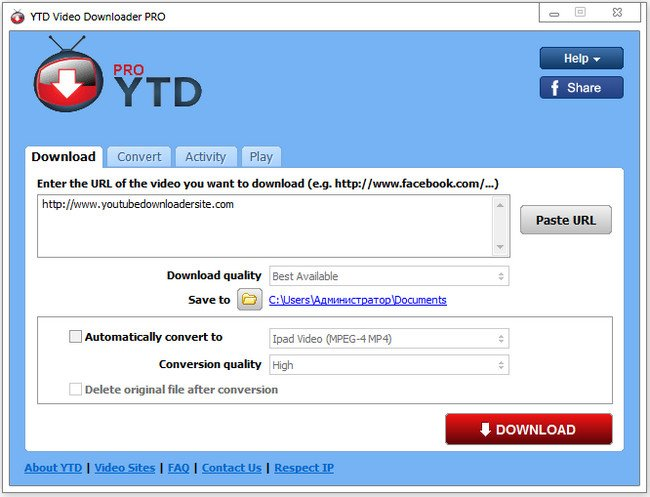 YTD Video Downloader Pro 5.8.6.0.7 Multilingual (Portable)