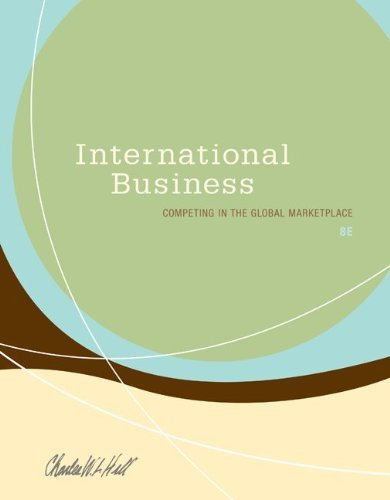 hill c w 2009 international business competing in the global marketplace 7th ed new york mcgraw hill International business: competing in the global marketplace: postscript 2001 published new york: mcgraw-hill higher education 7th ed principles of.