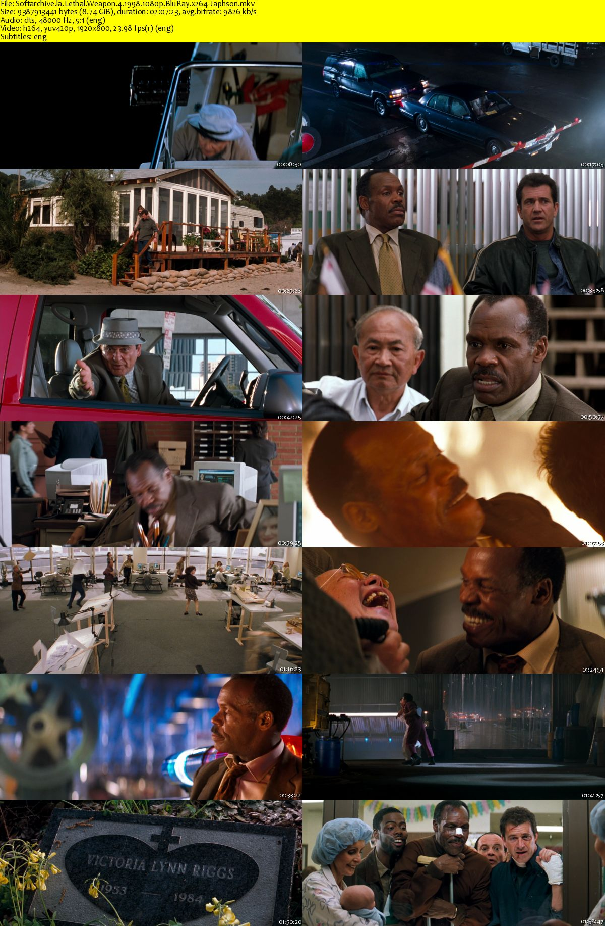 Download Lethal Weapon 4 1998 1080p Bluray X264 Japhson Softarchive