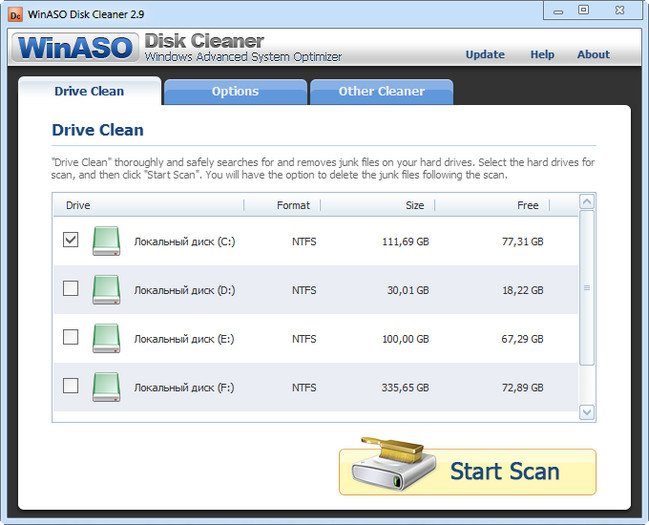 WinASO Disk Cleaner 3.0.0 full serial