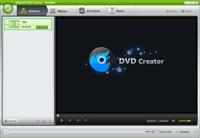 iSkysoft DVD Creator 4.5.0.0 with DVD Menu Templates