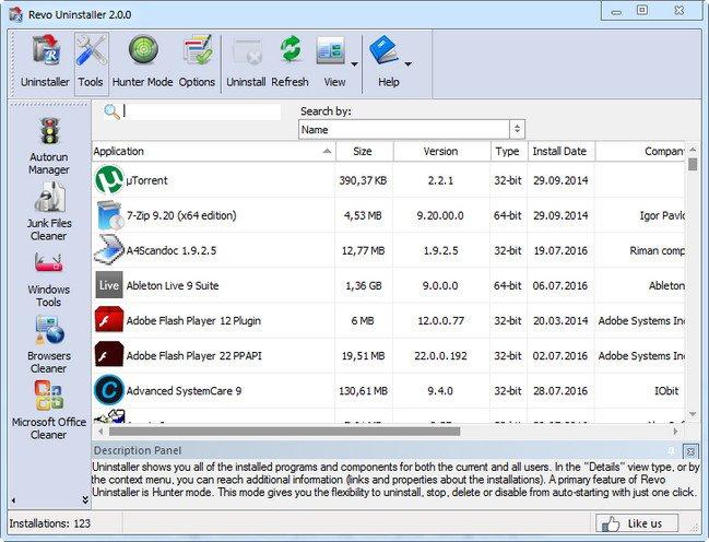 Revo Uninstaller Free 2.0.3 Multilingual + Portable