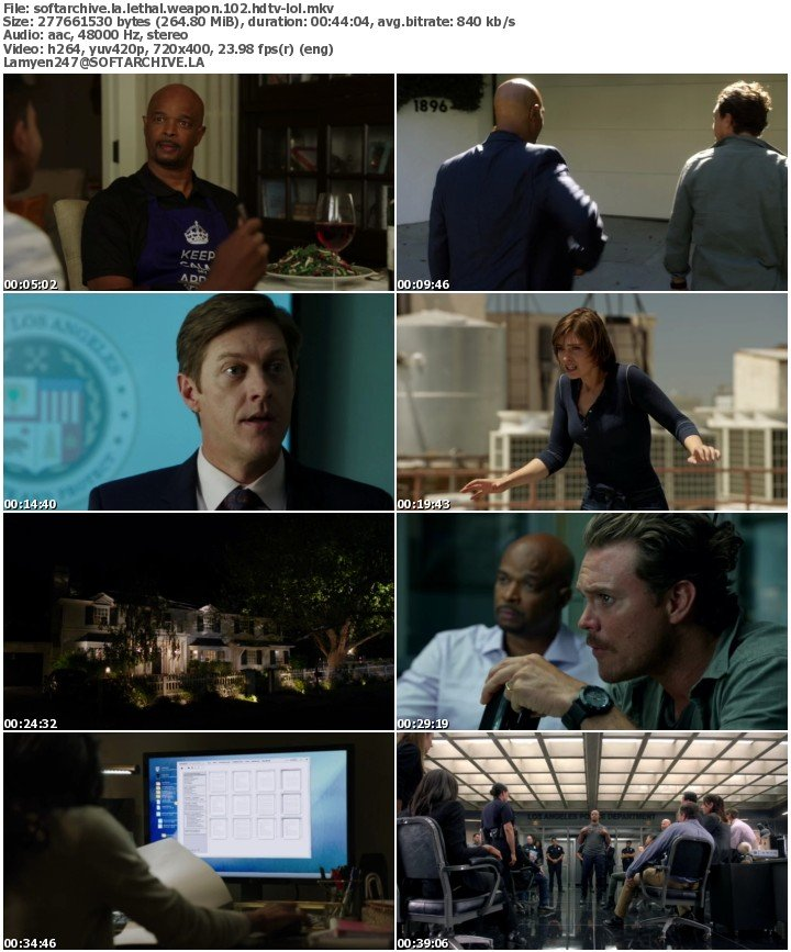 Download Lethal Weapon S01E02 HDTV x264-LOL - SoftArchive