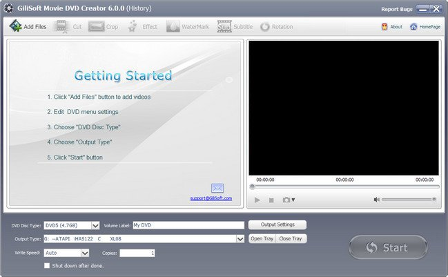 GiliSoft Movie DVD Creator 6.5.0