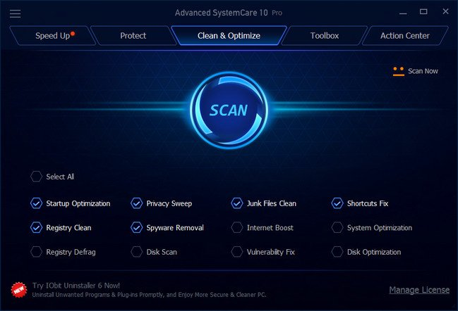 Advanced SystemCare Pro 10.2.0.725 with Working Keys