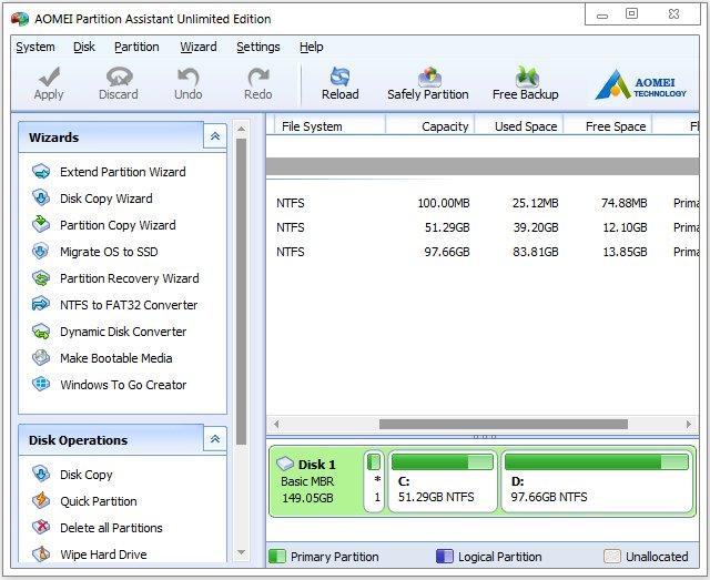 aomei partition assistant portable 6.5