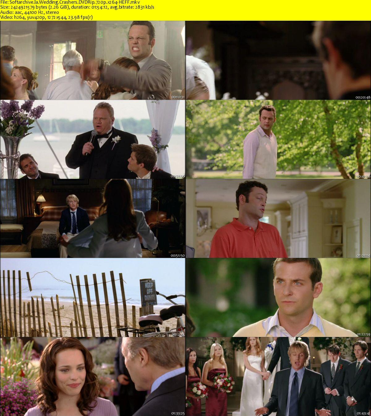 Download Wedding Crashers 2005 DVDRip 720p X264-HEFF