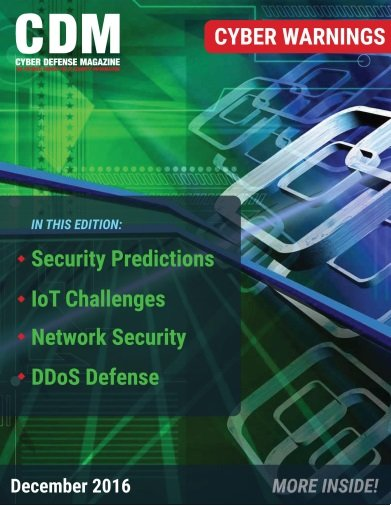 Cyber Defense Magazine -- December 2016
