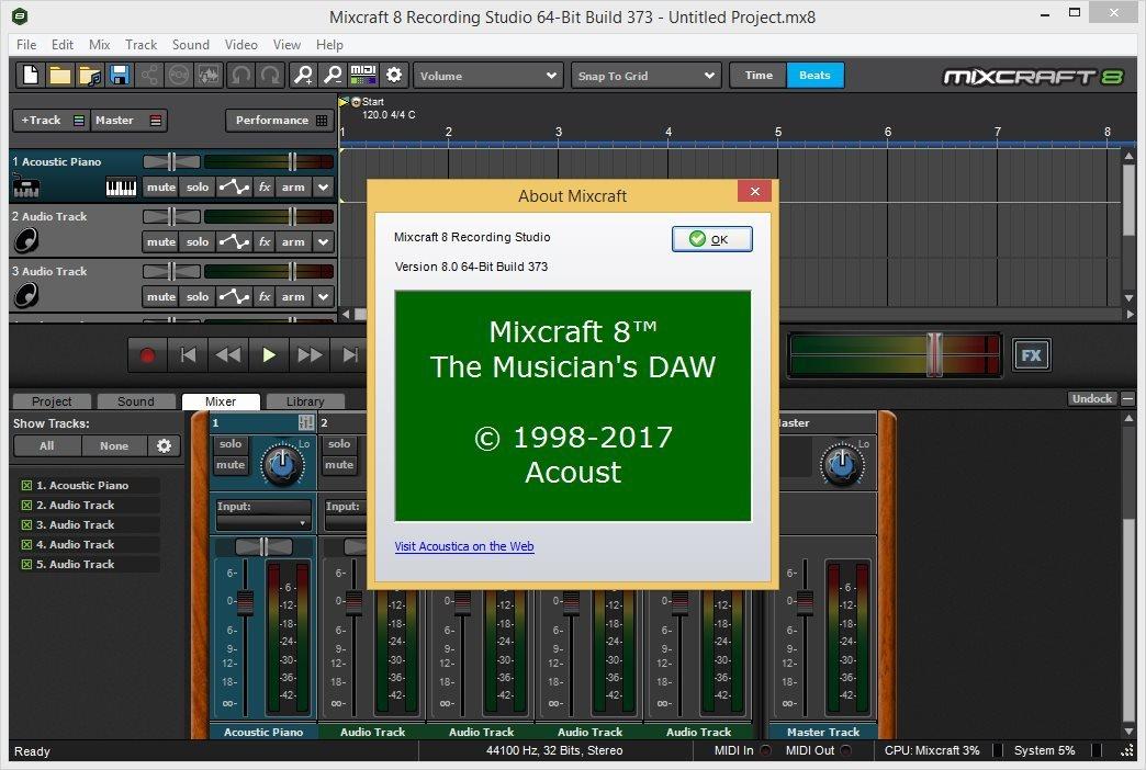 Acoustica Mixcraft 8.1 Build 418 + Keygen [Full] | KoLomPC