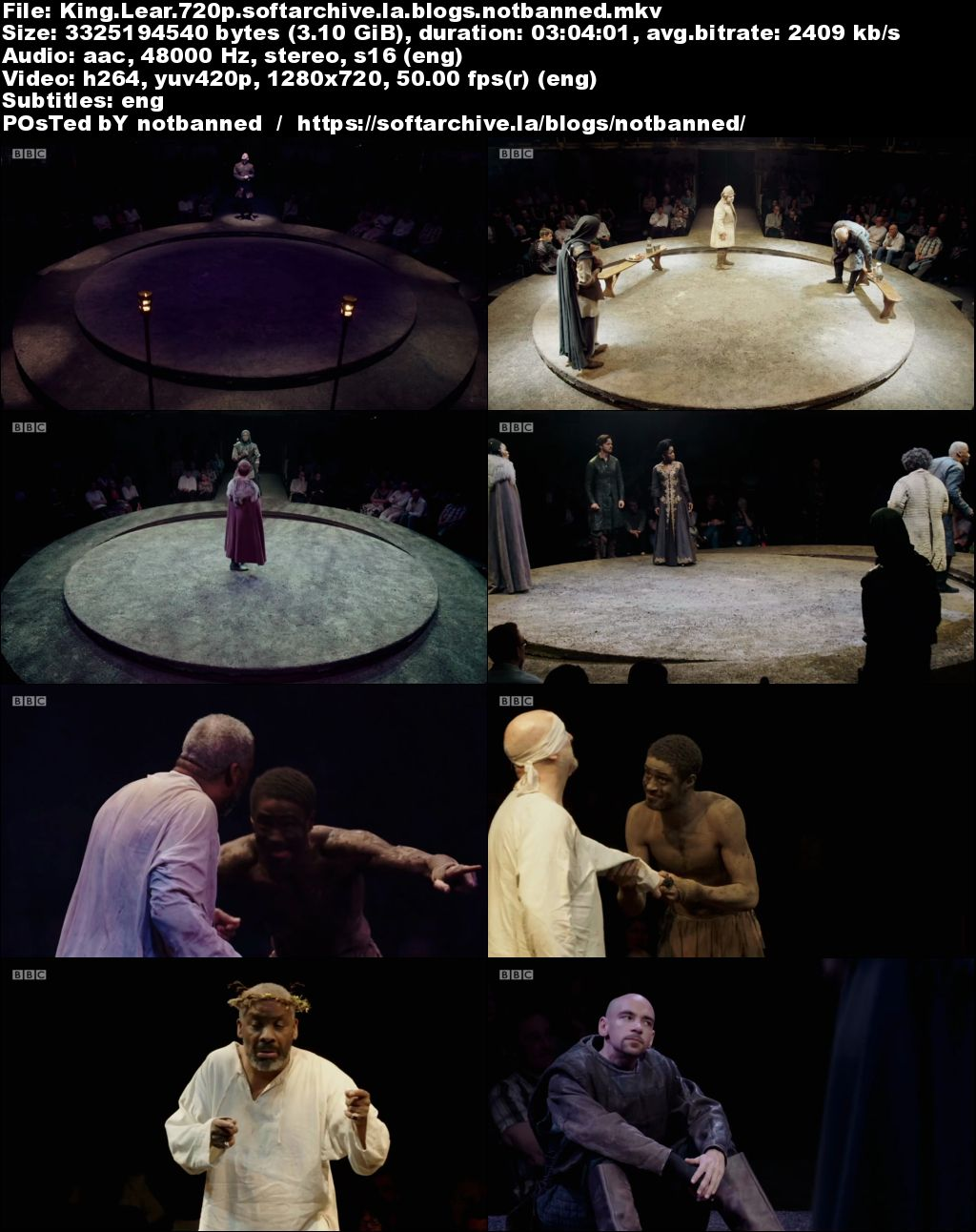 a comparison of king lear bbc A comparison of compassion and identity in king lear and coriolanus shakespeare's lear and coriolanus have a great deal in common both are first seen as proud, stubborn rulers unwilling to compromise this causes lear to lose his kingdom to his scheming daughters, while coriolanus is.