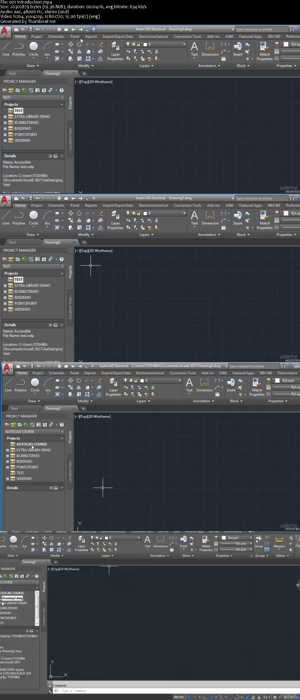 Autocad Electrical Drawing
