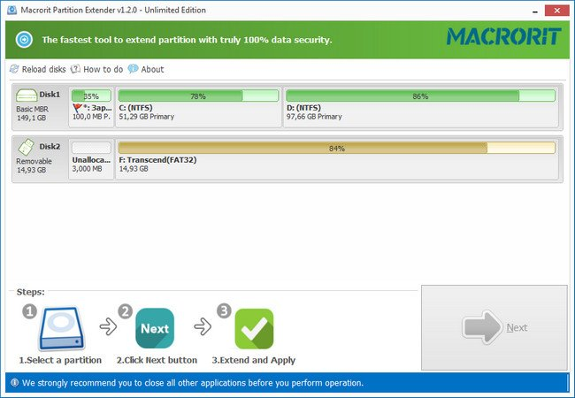 Macrorit Partition Extender 1.2.1 Unlimited Edition + Portable