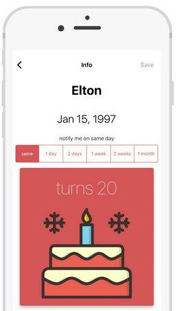 Birthdate - beautiful birthday reminder + Ecards v2.0