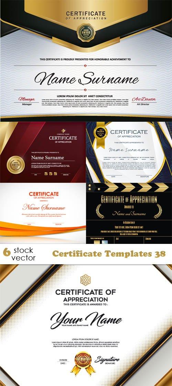 Certificate Templates Vector