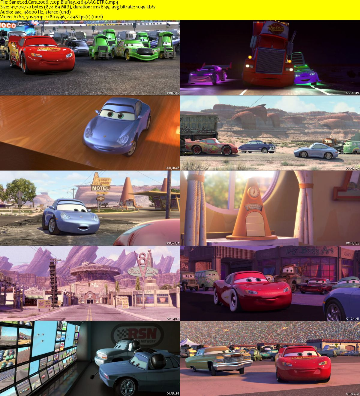 Download Cars 2006 720p Bluray X264 Aac Etrg Softarchive