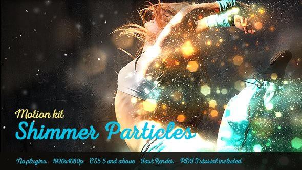Download Shimmer Particles Motion Kit - Project for After Effects