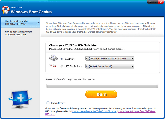 Tenorshare Windows Boot Genius 3.1.0.0 + Portable