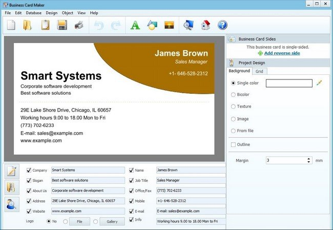 AMS Software Business Card Maker 9.0 Portable