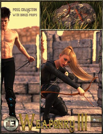 DAZ3D - i13 Weaponry 3 and Poses