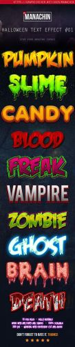 GraphicRiver - One Click Premium Halloween Text Effects Vol.1